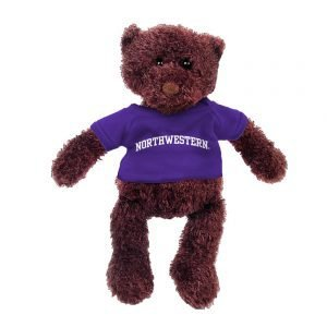 "Northwestern Wildcats Gund Teddy Bear Phil Wearing Purple ""Northwestern"" Tee Shirt"
