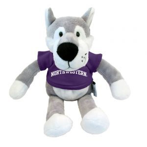 "Northwestern Wildcats Wildbunch Wildcat Wearing Purple ""Northwestern"" Tee Shirt"
