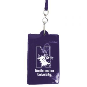 """Northwestern Wildcats Purple Vynil I.D. Holder with Printed """"N-Cat Northwestern University"""" that Fits any Lanyard"""