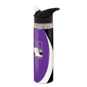 Northwestern Wildcats 26 OZ Colormax Stainless Steel Water Bottle with Full Color Wraparound Print