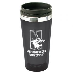 Northwestern Wildcats 16 OZ Black Acrylic Rainbow Tumbler Travel Coffee Mug