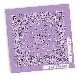 "Northwestern Wildcats Classic Paisley Lavender Bandana 22""X22"""