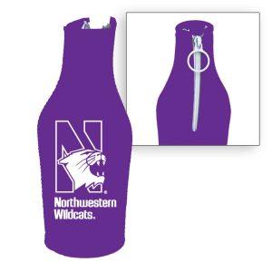 Northwestern Wildcats Purple Zipper Koozie with N-Cat Design