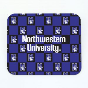 Northwestern Wildcats ColorMax Mouse Pad with Checker Design