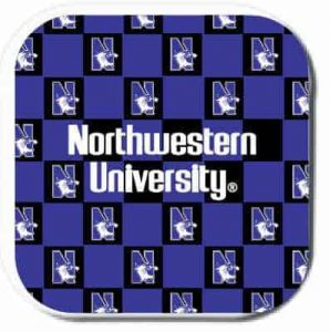 Northwestern Wildcats ColorMax Coasters with Chercker Design