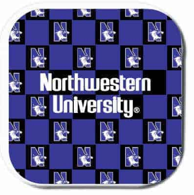 Northwestern Wildcats ColorMax Coasters with Chercker Design