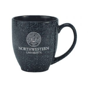 Northwestern Wildcats 15.5 OZ Astron Bistro Black Ceramic Coffee Mug with Seal Design