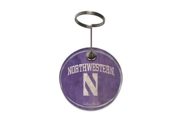 """Northwestern Wildcats Paperweight Photo Holder with """"Northwestern & N"""" Design"""