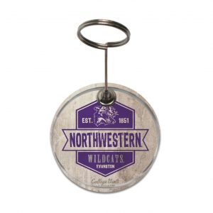 """Northwestern Wildcats Vintage Paperweight Photo Holder with """"Northwestern & Cat"""" Design"""