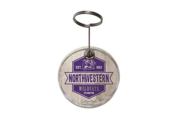 "Northwestern Wildcats Vintage Paperweight Photo Holder with ""Northwestern & Cat"" Design"