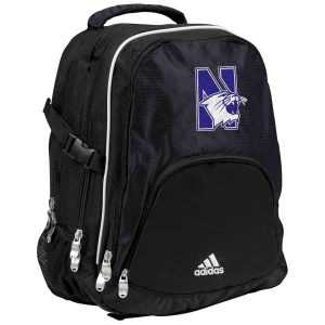 Black Adidas Back Pack with Lap Top Laop Copartment & Mascot Design