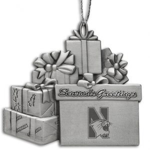 Northwestern Wildcats Gift Assortment Pewter Ornament with Mascot Design