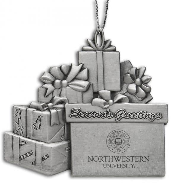 Northwestern Wildcats Gift Assortment Pewter Ornament with Seal Design