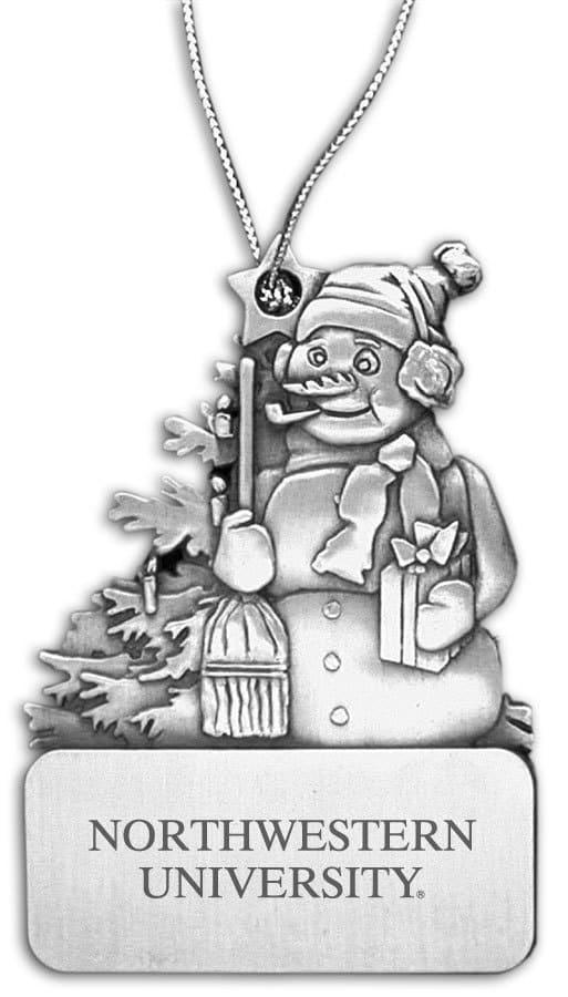 Northwestern Wildcats Frosty Pewter Ornament with Northwestern University  Design