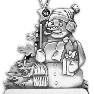 Northwestern Wildcats Frosty Pewter Ornament with Seal Design