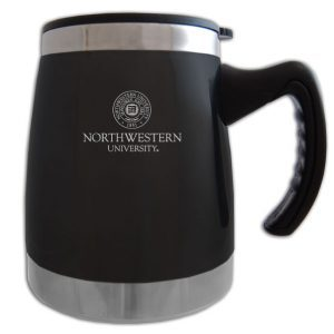Northwestern Wildcats Laser Engraved Black 16oz Squat Mug w/Handle & Seal Design