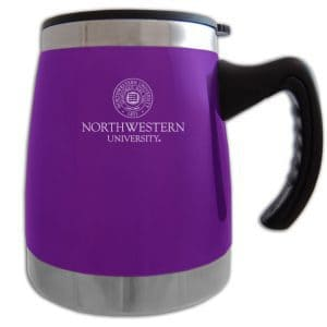 Northwestern Wildcats Laser Engraved Purple 16oz Squat Mug w/Handle & Seal Design