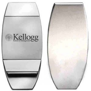 Northwestern Wildcats Laser Engraved Trillium Money Clip with Kellogg Design
