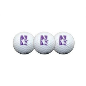 Northwestern Wildcats Golf Ball Pack of 3