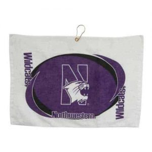 Northwestern Wildcats Printed Golf/Face Towel