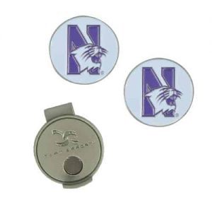 Northwestern Wildcats Hat Clip & Ball Markers with N-Cat Design