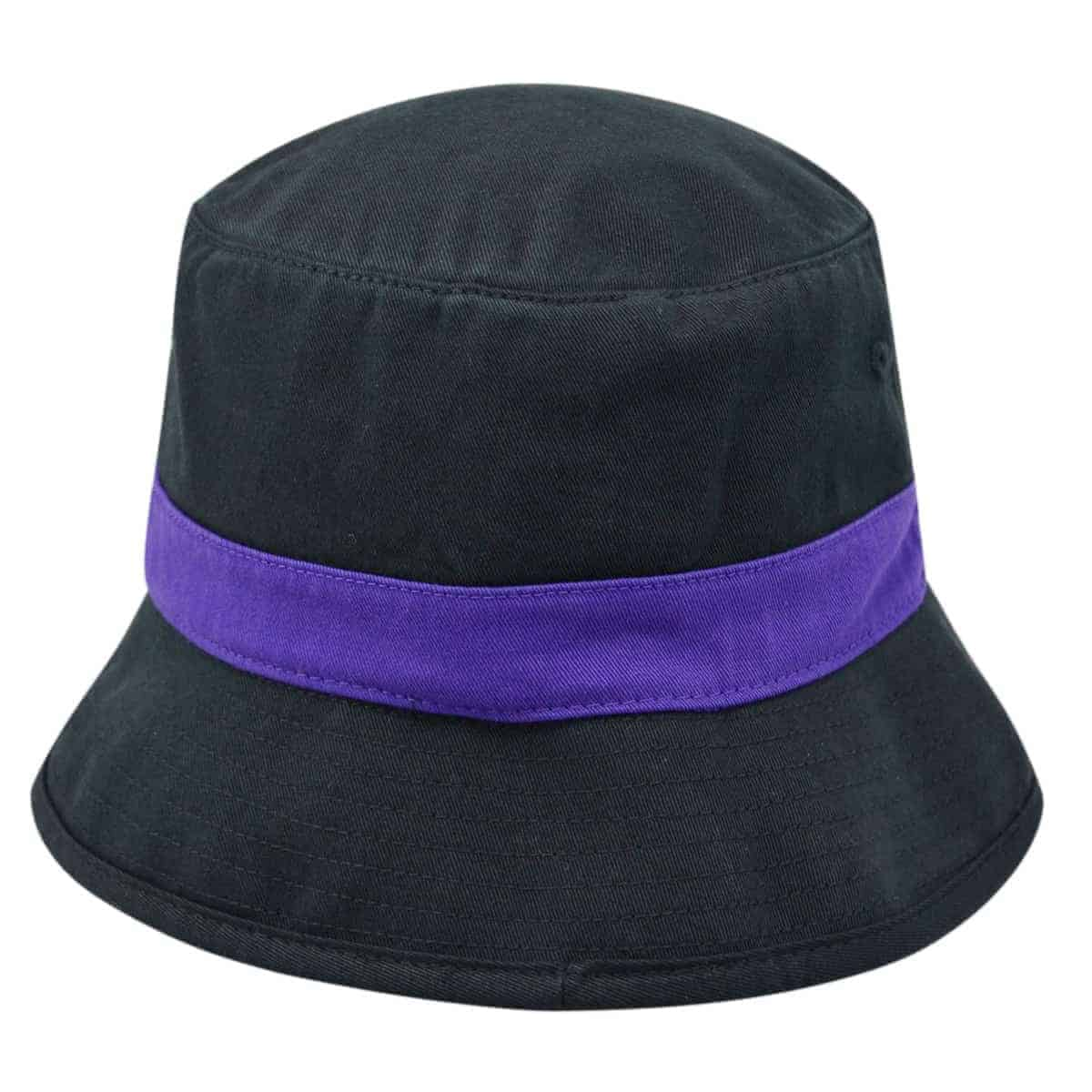 ee6418d9e8955 Northwestern Wildcats Black Floppy Bucket Hat with N-Cat Design