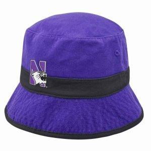 Northwestern Wildcats Purple Floppy/Bucket Hat with N-Cat Design