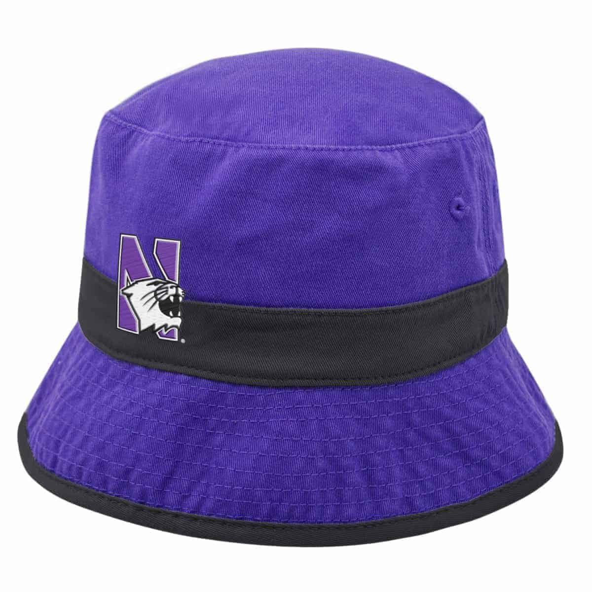 de75c1ea11c0a Northwestern Wildcats Purple Floppy Bucket Hat with N-Cat Design