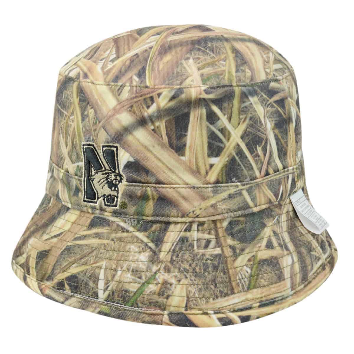 Northwestern Wildcats Camo Tan Reversible Floppy Bucket Hat with N-Cat  Design 9042bb271af
