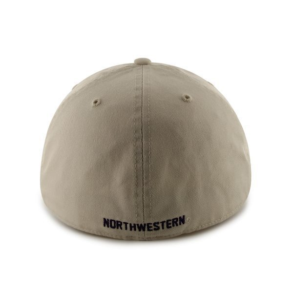 Northwestern Wildcats 47 Brand Almond Fitted Franchise Hat