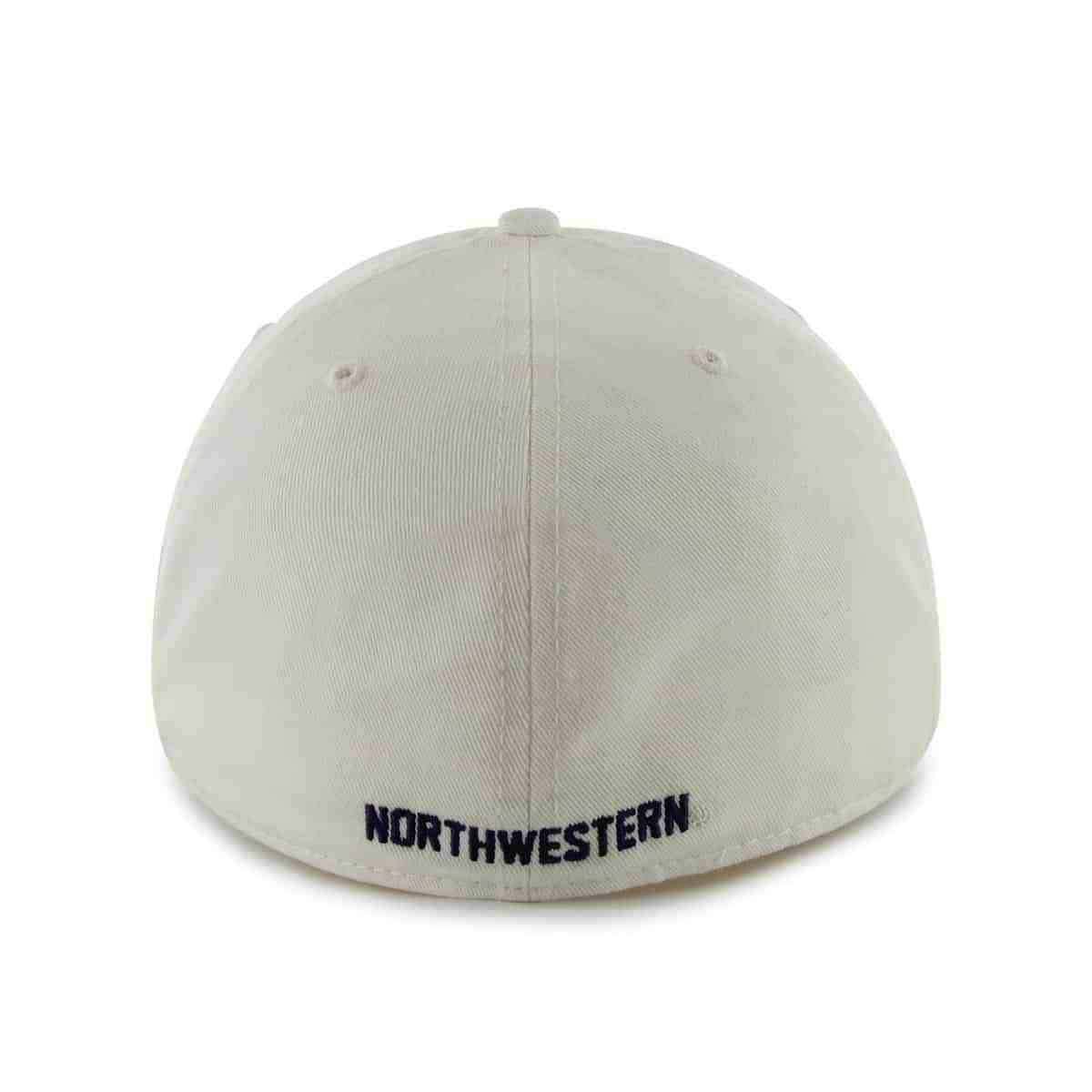500e8a7ed Northwestern Wildcats 47 Brand White Fitted Franchise Hat With N-Cat Design