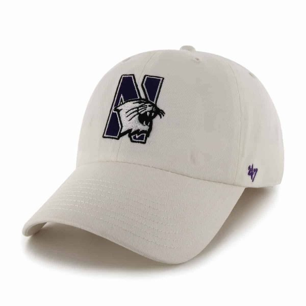 Northwestern Wildcats 47 Brand White Fitted Franchise Hat With N-Cat Design