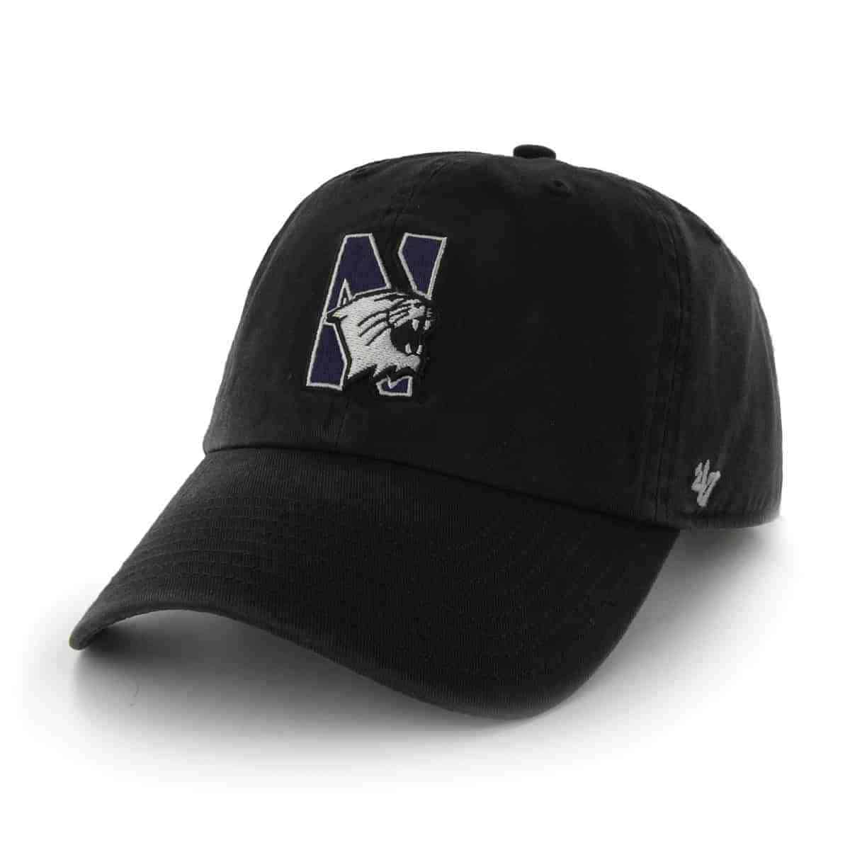 d0336212f Northwestern University Wildcats 47 Brand Black Fitted Franchise Hat With  N-Cat Design