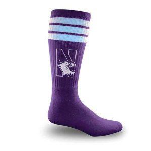 Northwestern Wildcats Purple Full Cushion Tube Socks