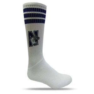Northwestern Wildcats White Full Cushion Tube Socks