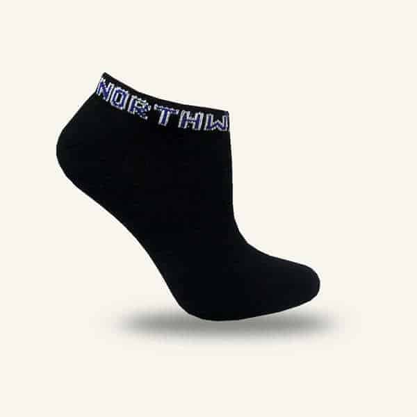 Northwestern Wildcats Black No Show Half Cushion Socks with Arch Support