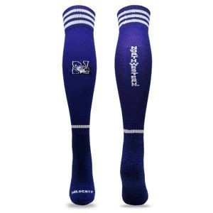 Northwestern Wildcats Purple Half Cushion with Arch & Anckle Support Mesh VentedLeg Patterned Elastic Over The Calf Soccer Socks