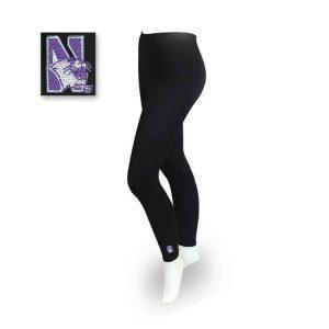 Northwestern Wildcats Black Ladies Stretch Tights