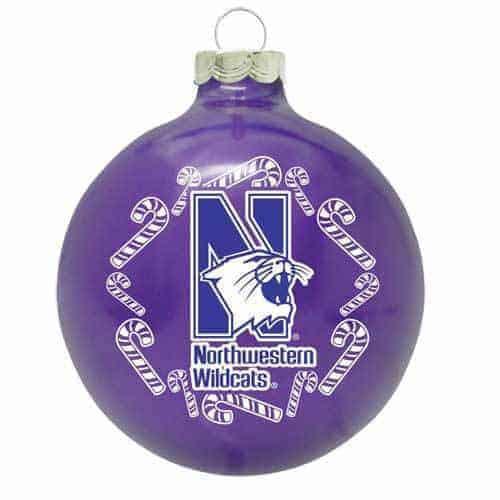 Northwestern Wildcats Purple Christmas Oarnment