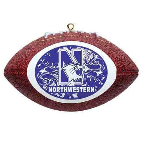 Northwestern Wildcats Football Christmas Oarnment