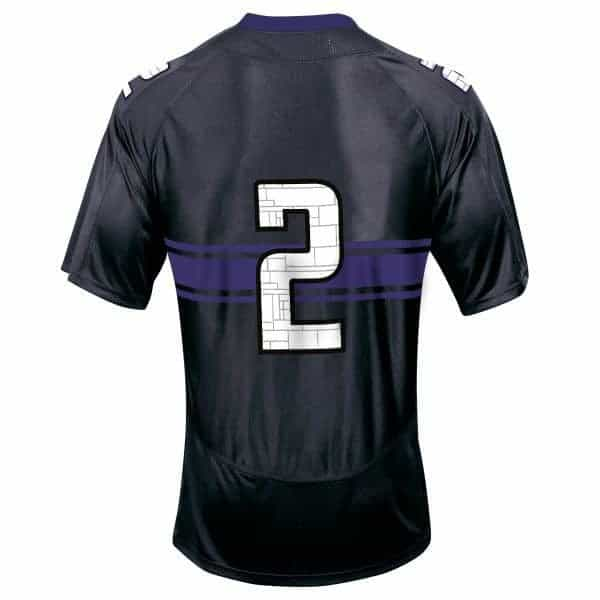 Northwestern Wildcats Adult Under Armour Black Replica Football Jersey with #2