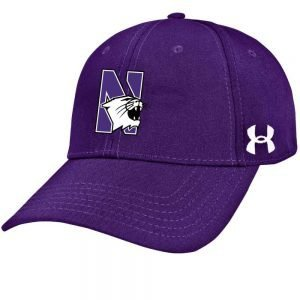 Northwestern University Wildcats Under Armour Purple Adjustable Velcro-back Hat with Arched Northwestern Design