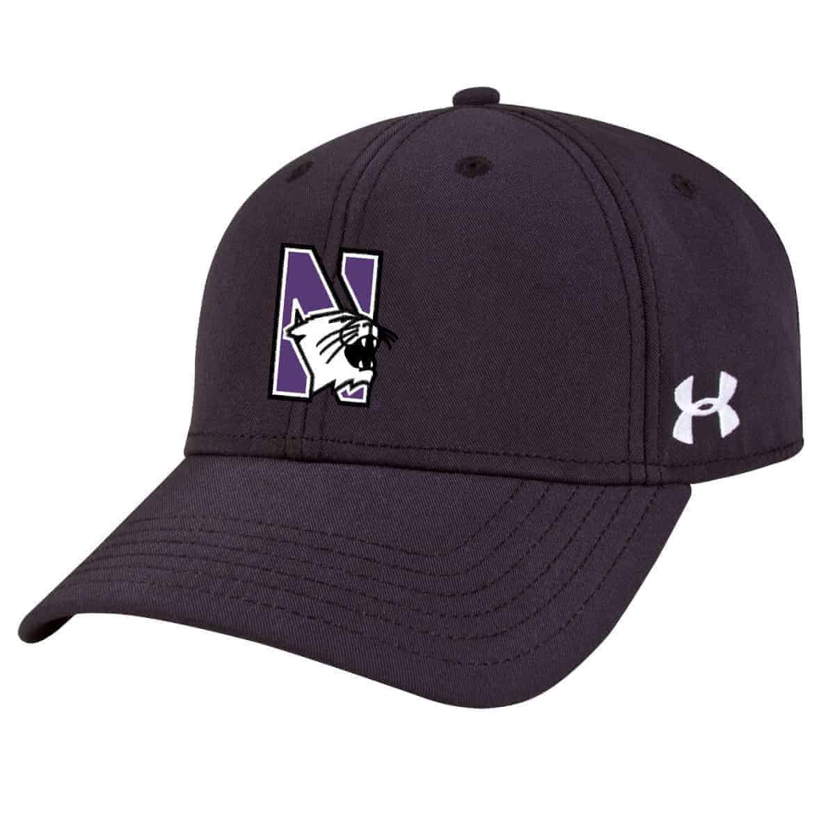 fefc062b946 Northwestern Wildcats Under Armour Black Adjustable Velcro-back Hat with N-Cat  Design
