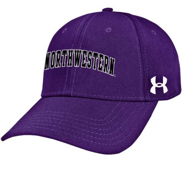 Northwestern Wildcats Under Armour Purple Adjustable Velcro-back Hat with Arched Northwestern Design