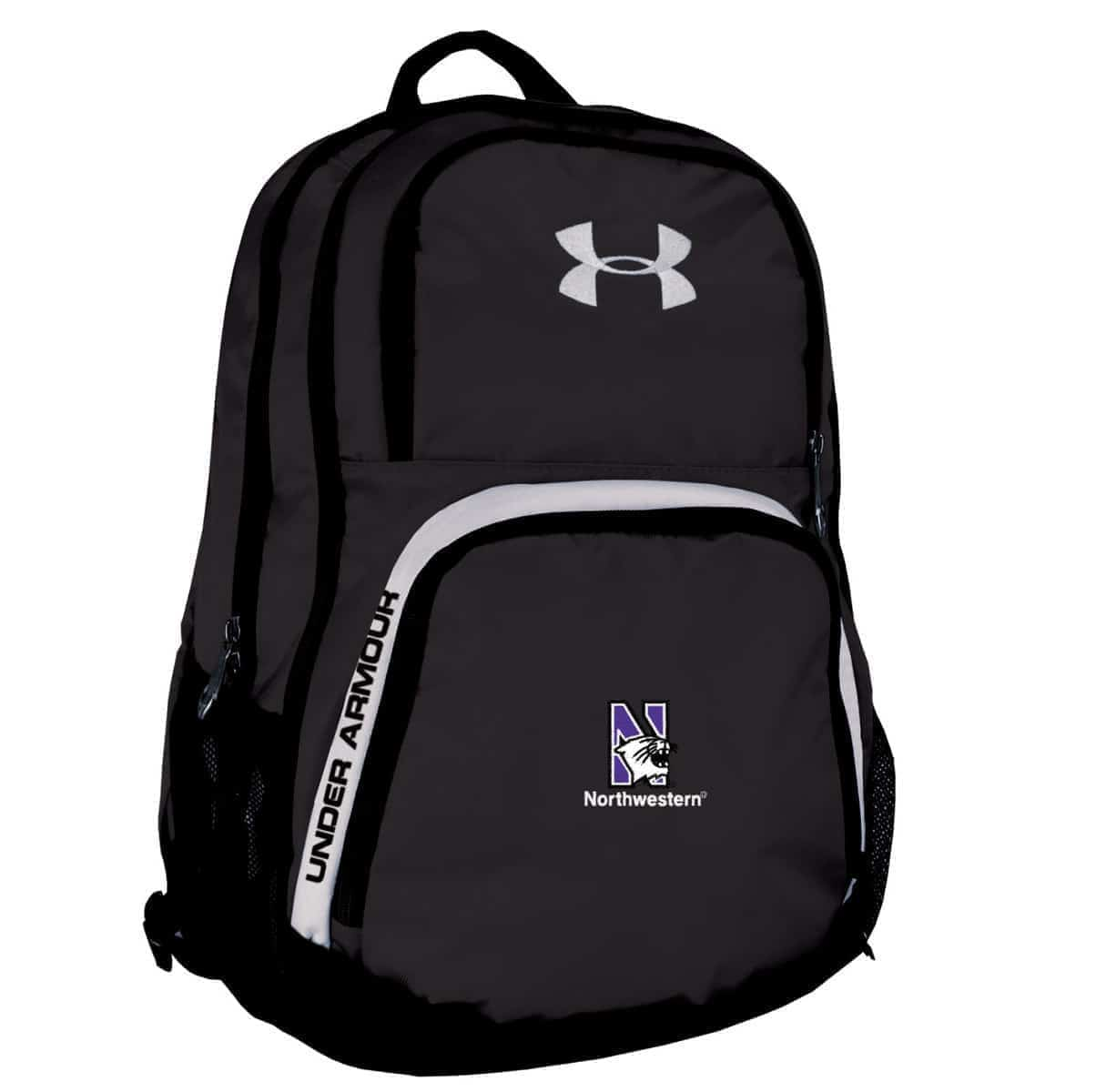 9f8767c62507 Northwestern Wildcats Under Armour Black PTH Victory Backpack with N-Cat  Logo