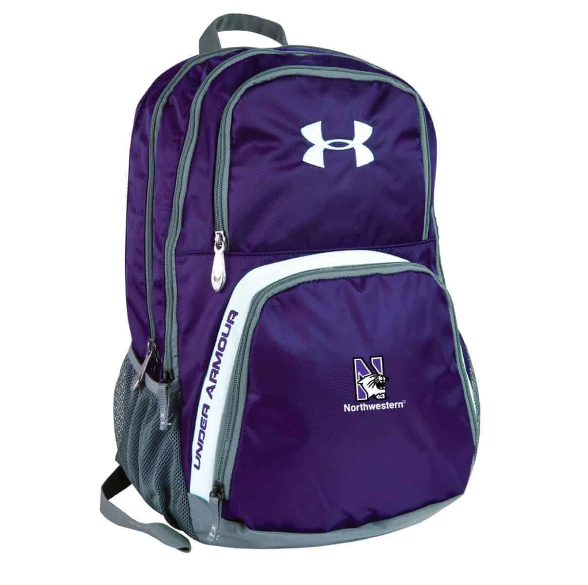 eface55513 Northwestern Wildcats Under Armour Purple PTH Victory Backpack with N-Cat  Logo