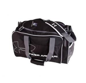 Northwestern University Wildcats Black Under Armour Dauntless Duffle Bag with N-Cat Design