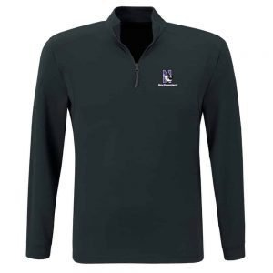 Northwestern University Wildcats Under Armour Adult Black Predator Mock 1/4 Zip