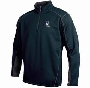 Northwestern University Wildcats Under Armour Adult Black Armour Fleece 1/4 Zip