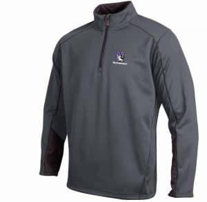 Northwestern Wildcats Under Armour Adult  Charcoal Armour Fleece 1/4 Zip